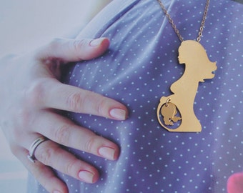 Twins Necklace, Mom of Twins Gold Jewelry, Twins Pregnancy, Present for Expectant Mother, Pregnancy Announcement, Twins Jewelry, Two Babies
