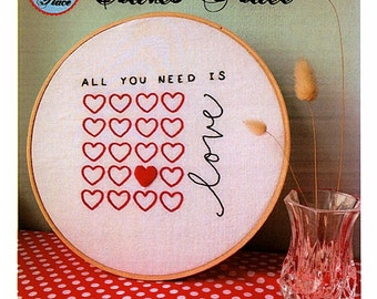 All you need is Love Stitchery by Clares Place - Creative Card