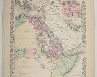 Tripoli map art Etsy