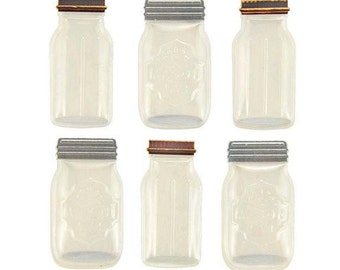 Mason Jar Stickers * 3D * for crafting / scrapbooking / DIY projects