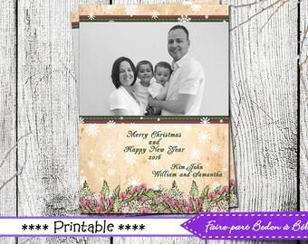 Greeting card -Pink - printable Greeting card - Holiday card - Digital printable