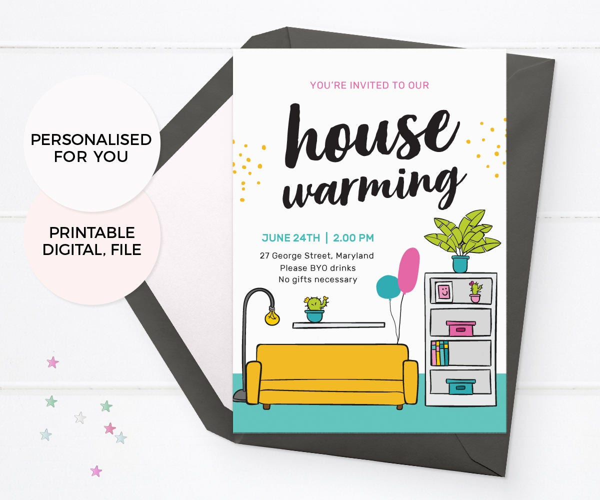 Modern housewarming invites PRINTABLE housewarming