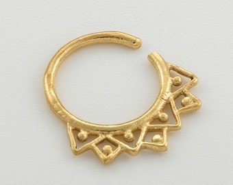 Gold helix earring. thin wire hoops. 20 gauge daith ring. 20 gauge tragus hoop