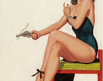 Vintage Pin Up Girl 1611 Pinup Poster  A3 Print