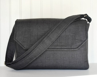 DSLR Padded Camera Bag in Black and Chevron with Lens Pockets Nikon Canon Rebel  EOS or Digital
