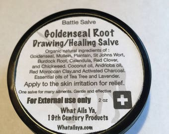 Goldenseal Root Drawing/Healing - Herbal/Battle Salve  - Free Shipping to the USA