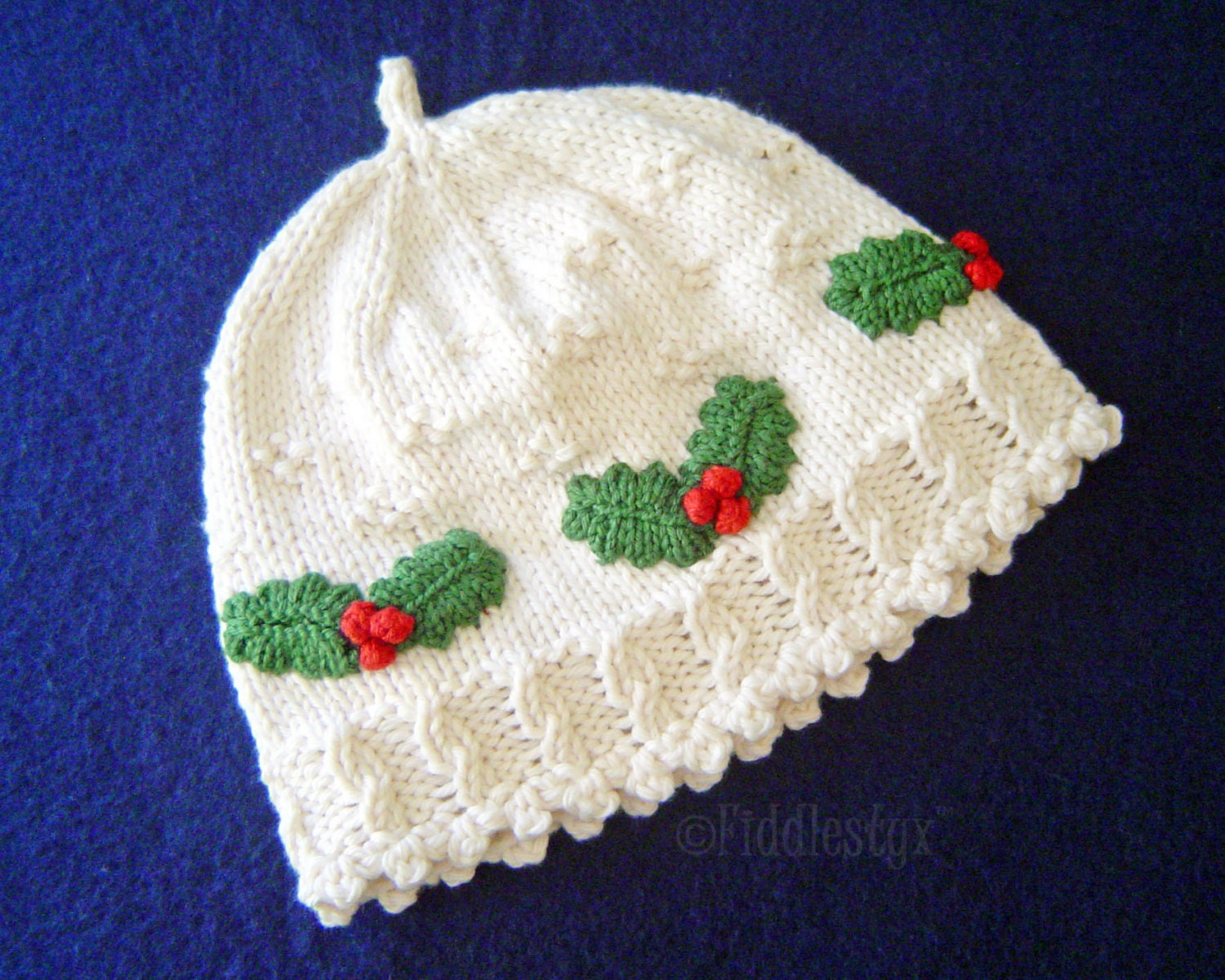 Enchanting Holly Knitting Pattern Adornment - Sewing Pattern for ...