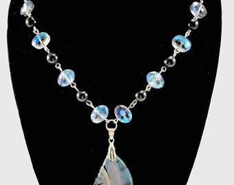 Glass Shell pendant necklace