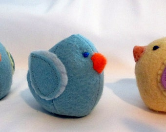 Bird sewing pattern-Instant Download-stuffed animal-toy, ornament, baby bird, softie, mobile toy