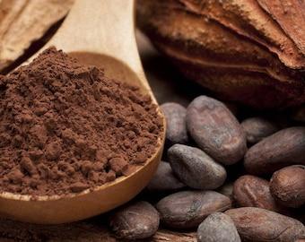 CACAO Powder, Nibs and Cacao Liquor Buttons 100% Organic Cacao Beans, vegan food