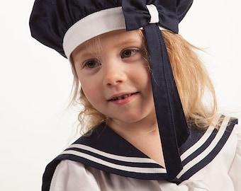 2acef09bf0c0a Girl sailor hat baby girl sailor bonnet girl sailor berets kids cap girl  sailor accessories girl