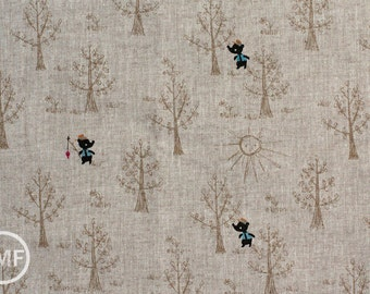 Little Bear in Wheat, Putidepome Outdoor Kids, Designed by Mico O, Made in Japan, 100% Cotton Fabric, PTMF-083