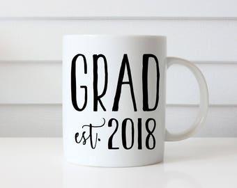 Grad Mug, Graduation Gift for Class of 2018, Gift for Grad, Custom Class of Mug, Graduation Gift for Him, Graduation Gift for Her