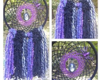 Halloween Dreamcatcher- Purple and Black Dream Catcher- Halloween Decor- Gothic Decor- Wall Hanging