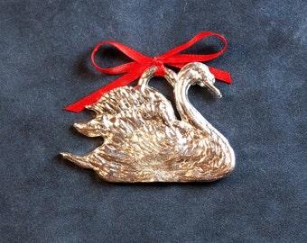 Pewter Swan Ornament