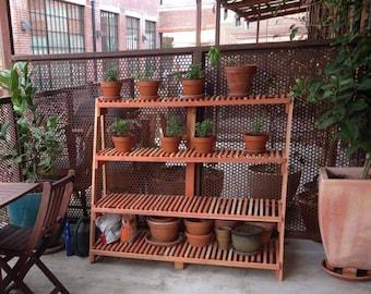 Redwood Garden Plant Stands