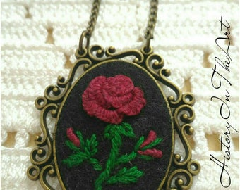 Handmade Embroidery Pendant in Italy