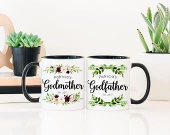 Gift for Godparents - Godfather Gift - Godfather Gift Ideas - Godmother Mug - Personalized Godmother Mug - Custom Godparents Gift