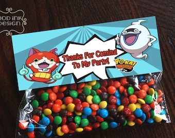 Yo Kai Watch Birthday Treat Bag Topper