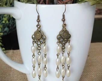 Antique Brass Medallion Earrings