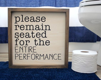 Bathroom Wooden Sign