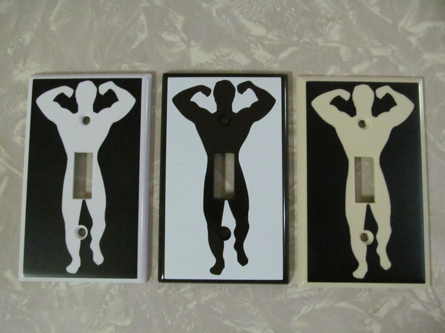 Custom Light Switch Plates Brilliant Custom Muscle Man Light Switch Plate Cover Funny Penis Design Ideas