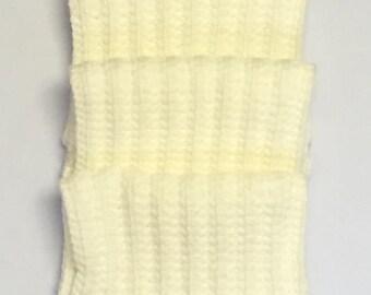 Cream Crocheted Tassel Scarves