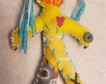 Yellow/Blue voodoo doll