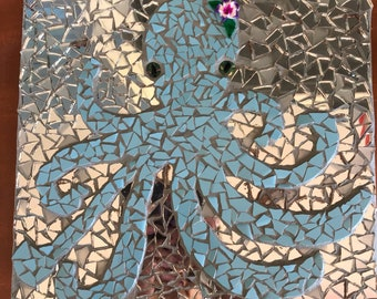 Mosaic Octopus Ceramic Tile Decoration