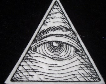 Embroidered Eye of Providence iron on patch