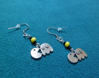 Earrings «Pacman and ghost.