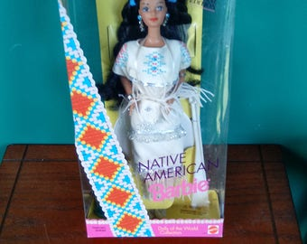 Mattel Dolls of the World Native American Special Edition Barbie Doll