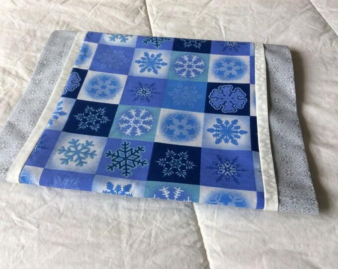 SALE-Blue Snowflake Christmas Table Runner