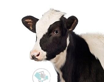 Cow Print #1, Animal Nursery Prints, Farm Animal Prints, Cow printable, Farm decor, cow decor, farm animals prints, farm print