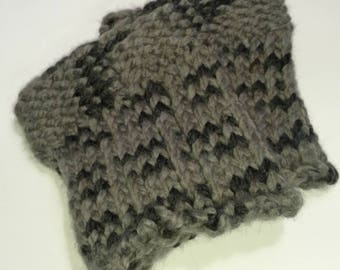 Gray Knit Boot Cuffs - Boot Cuffs