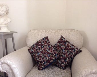Pair of Liberty fabric cushions