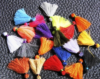 Creation! lot of 20 POMPOMS varied colors polyester / cotton +-2 2.5 CM TASSEL acryl