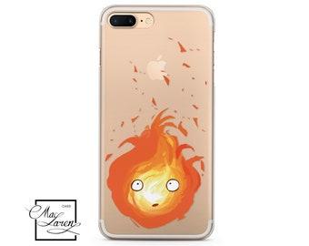 Calcifer iPhone 8 Case Ghibli Studio iPhone 7 Case iPhone 6S Plus Case iPhone 5S Case Howls Moving Castle Samsung S9 Case Samsung S8 Case 94