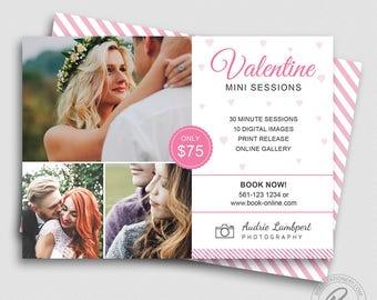 Valentine Mini Session Template   Valentine Marketing Board   Valentine's Day Photoshop Template   Valentine Photography Marketing Template