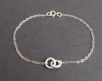 Tiny Infinity Sterling Silver bracelet-simple everyday jewelry
