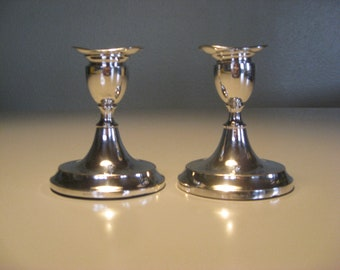 Svend Toxværd danish silversmith  vintage candleholders solid silver Sv. T. 830s 1950s