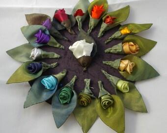 Buttonhole. Wedding bouttoniere. Alternative wedding flowers. Keepsake bouttoniere. Ribbon rose buttonhole. Bridegroom buttonhole