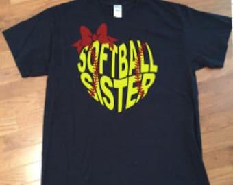 Softball Sister Shirt, Softball Shirt, Sister Shirt, Softball t-shirt, Baseball Sister, Baseball Shirt, Softball Mom shirt, Baseball Mom