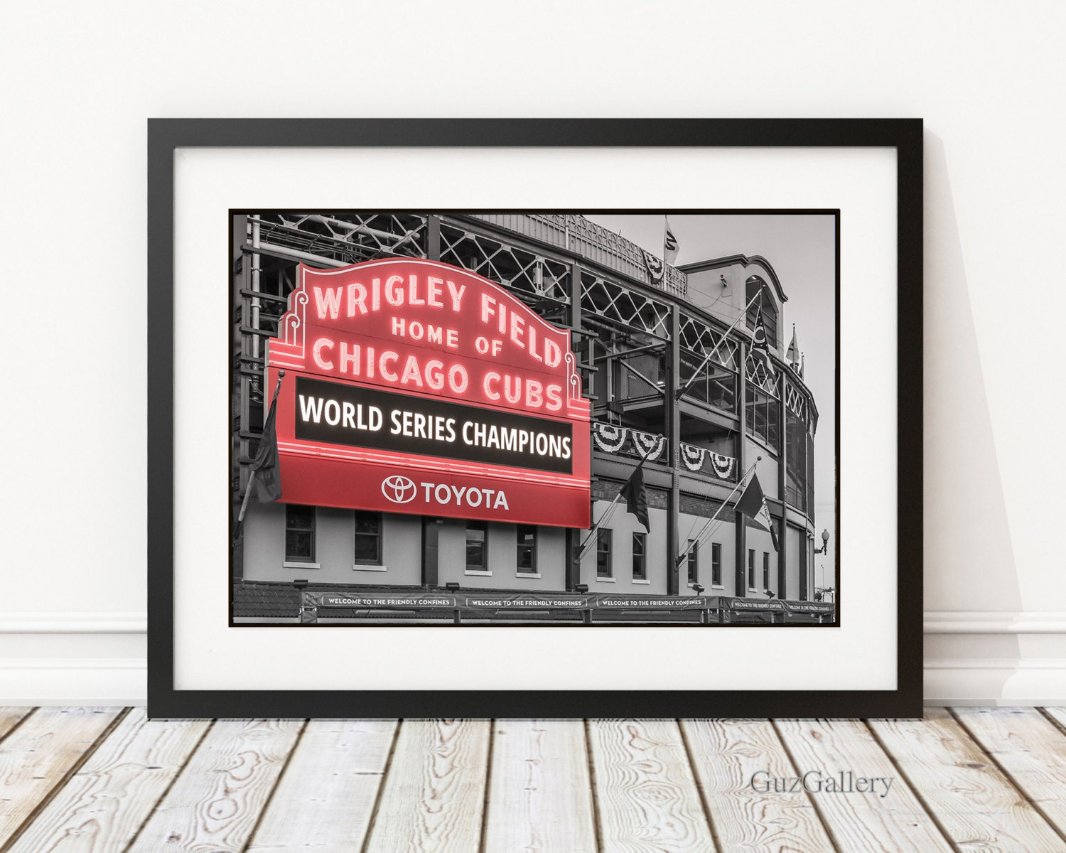 Chicago cubs world series frame 14x18 18x18 18x24 zoom jeuxipadfo Image collections