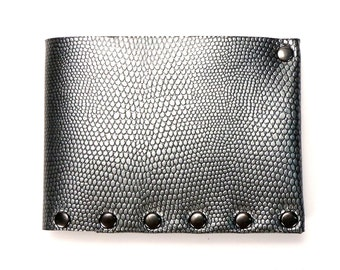 Pewter Folding Wallet | Silver Wallet | Mens Wallet | Bi-Fold | Folding Wallet | Durable Wallet | Money Holder | Vegan Wallet | Made in USA