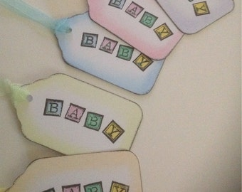New Baby Tags - Set of 10, Baby Shower/Party etc