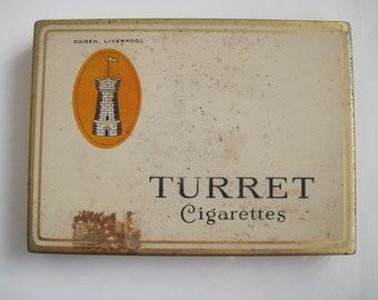 Ogdens Turret cigarette tin (50/empty) - c.1920/30