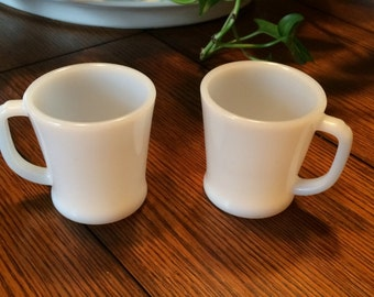 Fire King Oven Ware Mugs (2 Pieces)