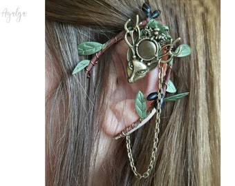 Elven ear cuff - elvish earring - elven ear - elf ear - deer ear cuff - baratheon- statement jewelry- statement jewelry