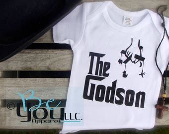 THE GODSON; The Godchild; The Goddaughter; Baptism; Christening outfit for baby boy; christening outfit for baby girl; novelty gift; custom